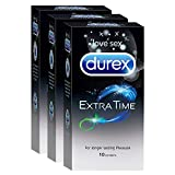 Durex Condoms - Extra Time for Extended Pleasure (10 Count - Pack of 3, Total 30)