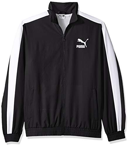 PUMA Herren Iconic T7 Track Jacket Woven Übergangsjacke, Black, Small