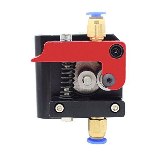 MK8 Remote Bowden Extrusora Accesorios 1.75mm filamento Todo Metal Remote Extrusora Bloque de Estructura para Reprap Impresora 3D Kossel Prusa【Mano izquierda】YOTINO