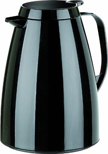 Emsa 505361 Isolierkanne, Thermoskanne, 1l Füllvolumen, Kaffeekanne, Quick Tip Verschluss, Basic in schwarz