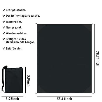 Générique Couverture de Poche Nylon 140cm*200cm Couverture de Pique-Nique Portable,Couverture de Camping,pour Barbecue,Plage,Voyage,Camping,Couverture de Pique-Nique Imperméable,Tapis de Plage