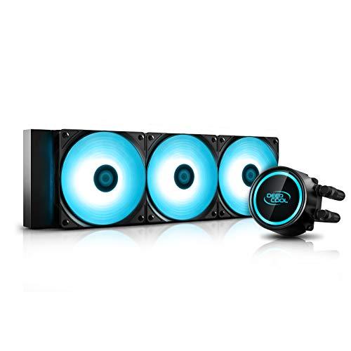DEEP COOL Gammaxx L360 V2, AIO di Raffreddamento a Liquido per CPU, Tecnologia Anti-Leak applicata,Controllate da Scheda Madre con Connettore RGB 12v-4pin o Controller Via Cavo, Garanzia 3 Anni