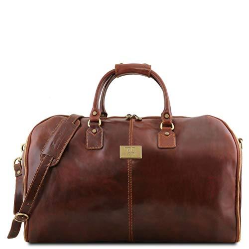 Tuscany Leather Antigua - Maleta de Viaje/Porta Trajes en Piel - TL141538 (Marrón)