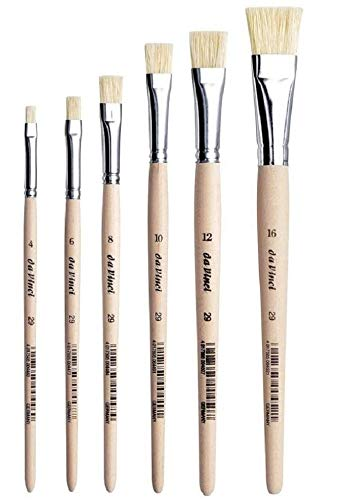 Da Vinci 29 Serie Flach-Pinsel/Borstenpinsel, chinesisch Borsten, Holz,4,6,8,10,12,16