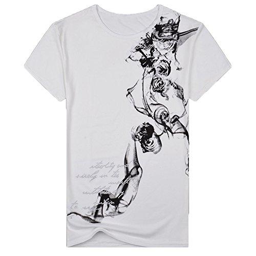 Herren T-Shirt Rundhals O-Neck Tee Shirt T-Shirt, Short Sleeve, Round Neck, Herren Stretch Slim Fit O Neck Tee T-Shirt 3D Druck Kurze Ärmel Grafik T Shirts