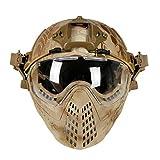 GODNECE Helm Maske Airsoft Taktische Helm Maske Militär Gesichtsmaske Softair Maske Helm für Airsoft (Krepp)