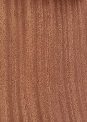 Aibote Hojas de Restauración de Chapa de Madera de Palisandro de Sapeli Natural(Tamaño Total:26x250CM) para Estantes de Mesa de Vitrina de Altavoces Muebles de Cocina