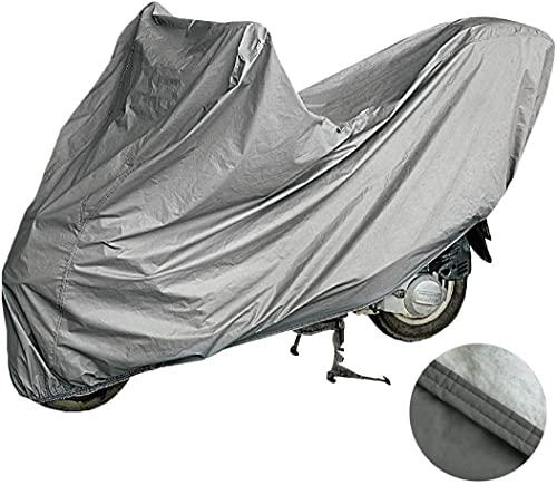 Funda para Moto Cubierta de la Motocicleta, Funda de Moto Afelpa en Material 100% Impermeable, Doble Costura y elástica en los Extremos para Scooters y Motos Medida XL: 246x105x127cm