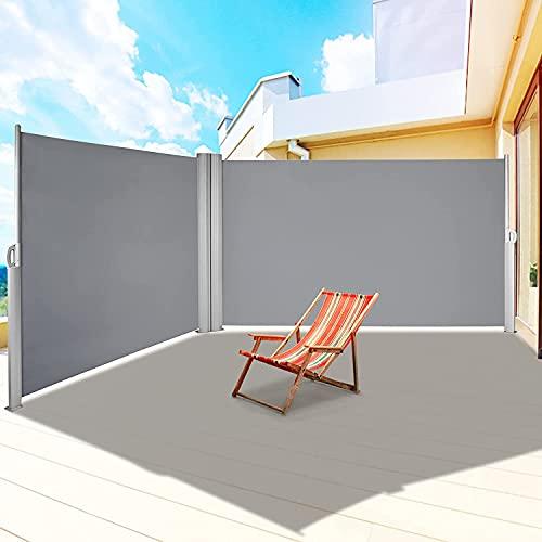Toldo Lateral 300 x 160 cm (L x H) Toldo Extensible de privacidad, Toldo Lateral Retráctil, Protege la Privacidad, para balcón, terraza, jardín, toldo de Pared Lateral, Enrollable Lateral