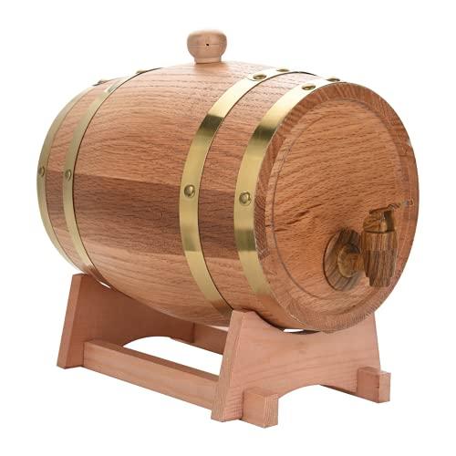 Barril de vino de roble simple Barril de vino de roble de madera Barril de vino vintage Hermoso para cenas y fiestas Estaciones de bebidas