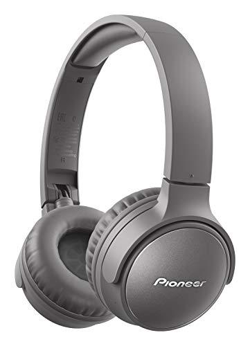 Pioneer S6 Wireless ANC Auriculares (Plegable, cancelación de Ruido, 30 Horas de reproducción, función de Carga rápida, Asistencia de Voz, Bluetooth 5.0), Gris