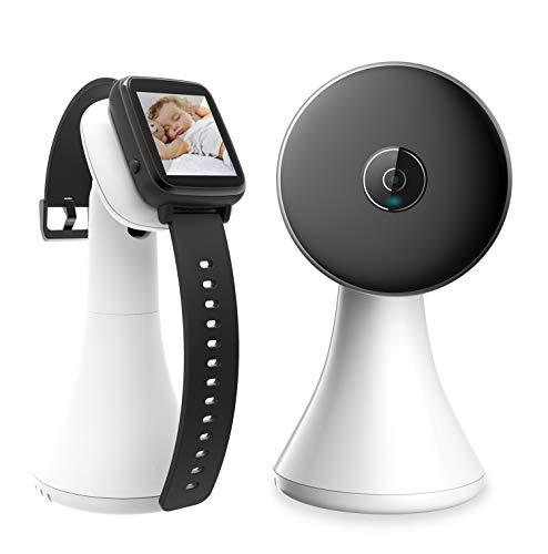 Babyphone mit Kamera Video Smart Baby Monitor Handgelenk Bildschirm Nachtsichtkamera Temperaturüberwachung Schlaflieder, Nachtsicht, Intercom-Funktion VOX Mode Weiß/Schwarz