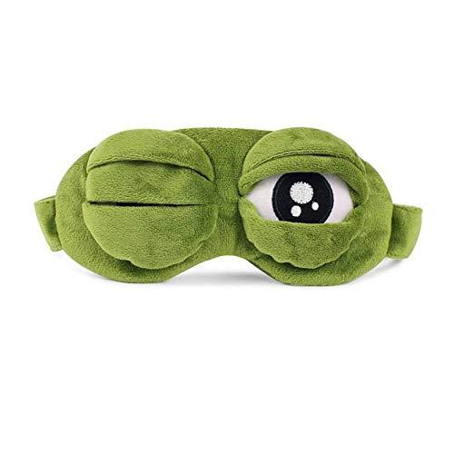 Augenmaske zum Schlafen Cartoon, Lovely Frogs Eyes Augenmaske zum Schlafen, für Flugreisen Büro Nachtschlaf