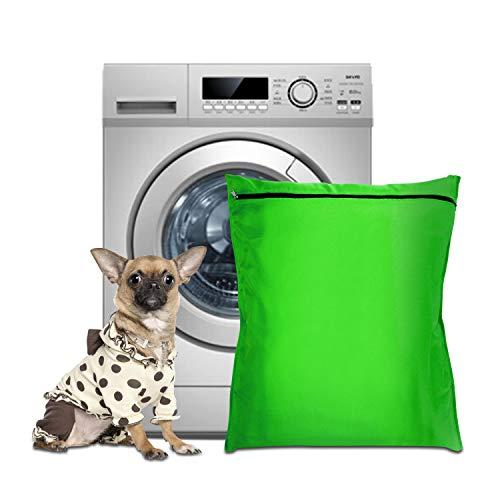 PTN Sacco Porta Biancheria per Animali Domestici, Grande Borsa per Biancheria con Cerniera, Isolare i Peli di Animali Domestici, Impedisce Bloccare la Lavatrice, Ideale per Cani, Gatti