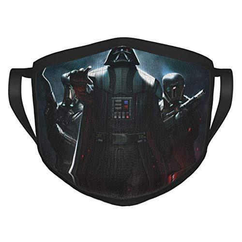 Honorall Star Wars Darth Vader Gesichtsmaske, wiederverwendbar, Stoffgesichtsmasken, waschbar, Banda Gesichtsmaske, Sonnenstaubabdeckung, Sturmhaube, Schal zum Angeln, Radfahren