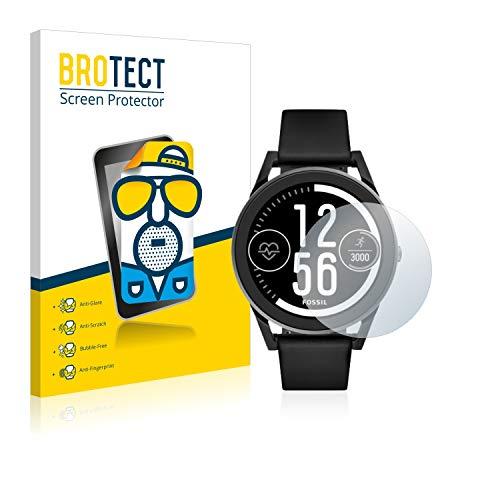BROTECT 2X Entspiegelungs-Schutzfolie kompatibel mit Fossil Q Control (3.Gen) Bildschirmschutz-Folie Matt, Anti-Reflex, Anti-Fingerprint