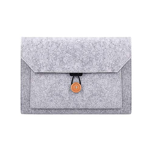 WSGYX Laptop Bag 11 12 16 13 15 Inch Case for MacBook Air Pro 2018 Xiaomi Huawei Hp Acer Computer Fabric Sleeve Cover Accessories (Color : Grey, Size : 13 inch)