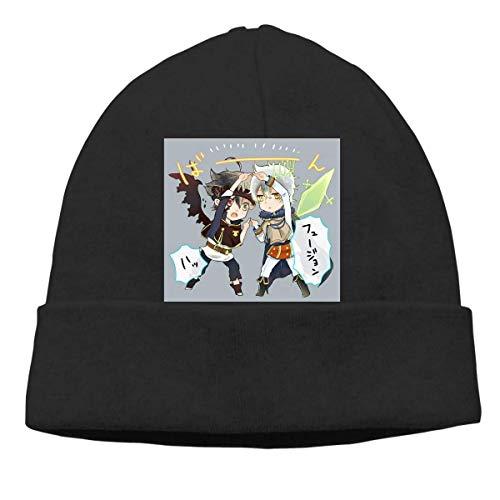 Lawenp Hombres Mujeres Skull Cap Black Clover Asta Yuno Beanie Sombreros para exteriores