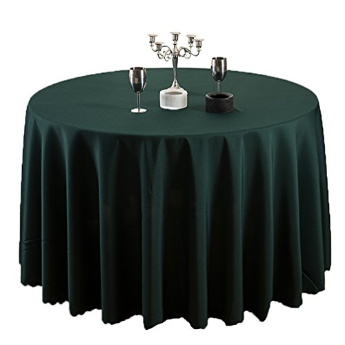 TANGMEN Colore Puro Hotel Tovaglia Restaurant Table Skirt Guesthouse Ristorante Rotonda Tovaglia Verde Scuro Tondo:240cm