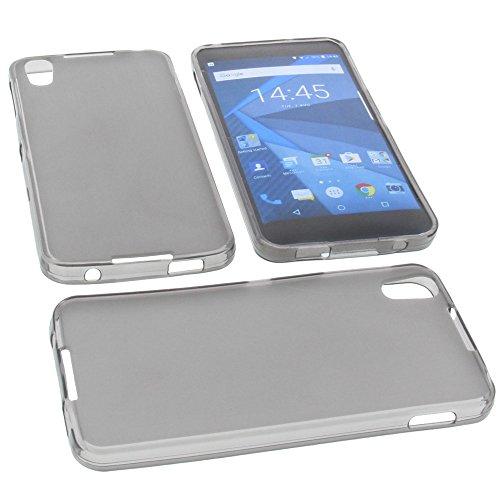 foto-kontor Tasche für BlackBerry DTEK50 Gummi TPU Schutz Handytasche grau