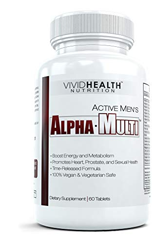 Active Men's Alpha-Multi - High Performance Zinc Multivitamin Providing Complete Nutrition for Active Men, Male Health, - 60 Tablets per Bottle (1 Bottle)