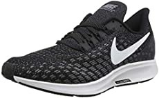 Nike Men's Air Zoom Pegasus 35 Black/White Gunsmoke Oil Grey Running Shoe 10 Men US