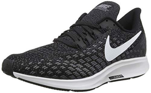 Nike Mens Air Zoom Pegasus 35 Running Shoe, Black/White/Gunsmoke/Oil Grey, 9