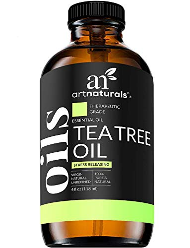 ArtNaturals Tea Tree Essential Oil 4oz - 100% Pure Oils Premium Melaleuca Therapeutic Grade Best for Acne, Skin, Hair, Nail Fungus, Face and Body Wash Aromatherapy & Diffuser