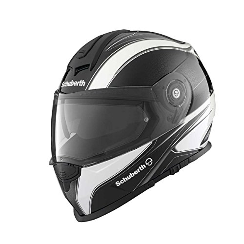 SCHUBERTH S2 Sport Wave Metal Motorradhelm, Farbe schwarz-weiß, Größe L (58/59)