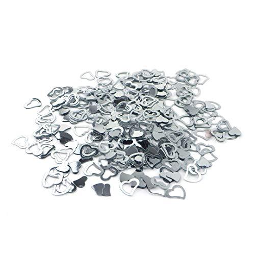 Sepkina Herzen Herzchen Herze Love Hochzeit Tischdeko Streudeko Konfetti Silber (Silver, 200)