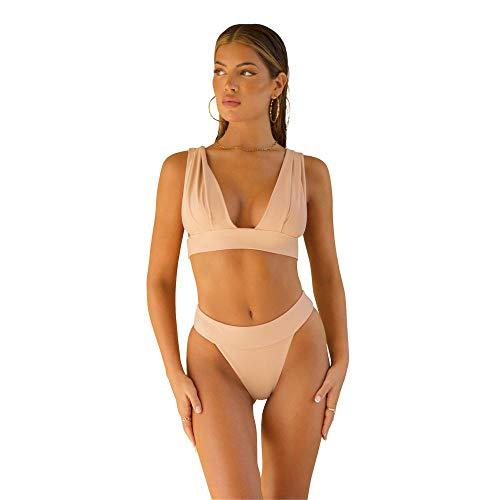 ÔNNE SWIMWEAR Parte De Arriba Bikini Mujer Tahiti Top Plain Rosa Palo L
