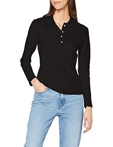 Lacoste PF5464 Camisa de Polo, Noir, 40 para Mujer