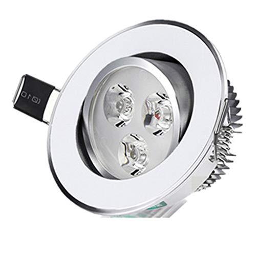 Lwieui Luz de Techo Ángulo Ajustable Foco LED Downlight Calientes/Naturales/White Light Colores de Techo Integrado Corredor Panel de luz empotrada Sala del Techo del vestíbulo lámparas de araña