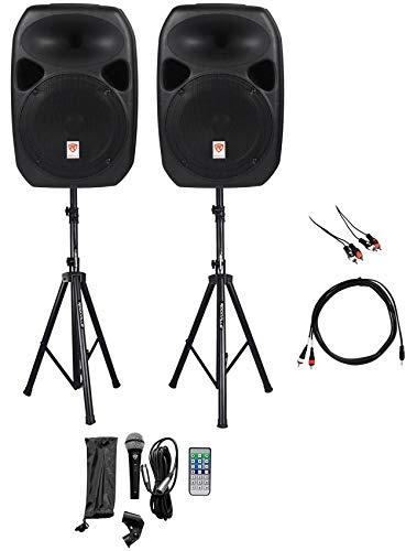 "Rockville Dual 12"" Smartphone/Tablet/Laptop/TV Youtube Karaoke Machine/System"