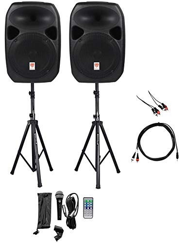 Rockville 12 Portable YouTube Karaoke Machine//System w// 2 Mics See Description!