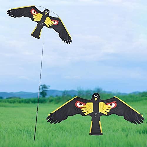 Cometa Repelente De Pájaros- Cometa De Águila Repelente De Pájaros De Jardín Ahuyentador De Pájaros De Halcón Volador, Repelente De Pájaros Con Línea De Cometas De 2 M Para Patio Trasero De Granja,