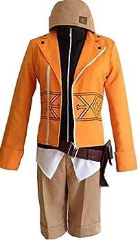 Poetic Walk Anime Future Diary Yukiteru Amano Cosplay Costume Uniform Halloween Outfit  Mens-XL Orange