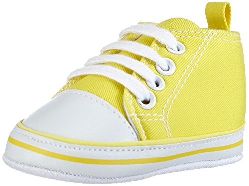 Playshoes Baby Canvas-Turnschuhe, Gelb (gelb 12) 18