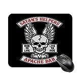 Satans Helpers Apache Bar Sons of Anarchy Alfombrilla de mesa antideslizante de alta velocidad para juegos, alfombrilla de ratón con base de goma cuadrada para oficina, alfombrilla de escritorio peque