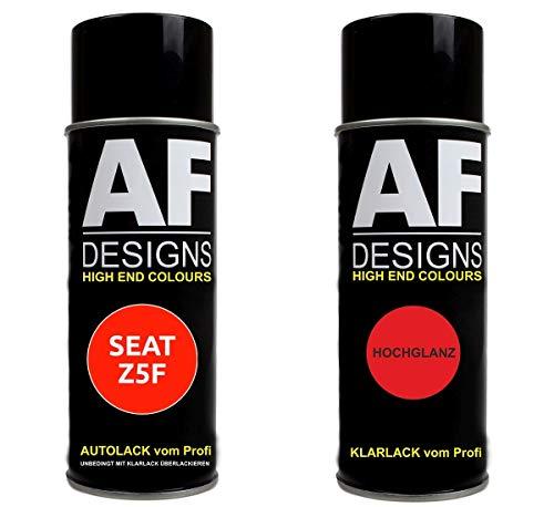 Alex Flittner Designs Autolack Spraydose Set für SEAT Z5F SPRINTBLAU PERL Basislack Klarlack Sprühdose 400ml