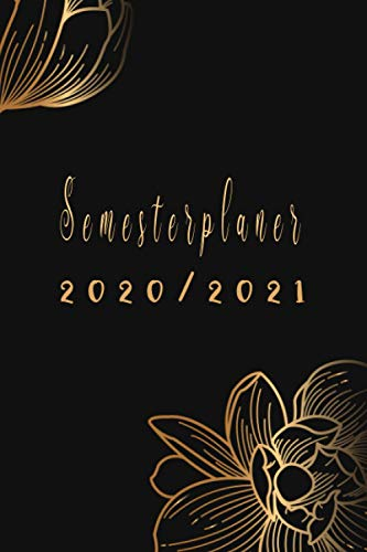 Semesterplaner 2020 2021: studium planer 2020/2021- din a5 - schwarz / tagesplaner, einfach und praktisch Universitäts- und Studentenplaner ,Studentenkalender & Semesterplaner 2020-2021 .