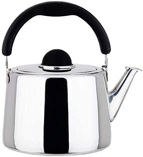 Bouilloire induction Bouilloire en acier inoxydable épaissie bip bouilloire bouilloire gaz à induction cuisinière générale domestique grand capacité bouilloire argent argent WHLONG (Color : 4l)