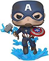 Funko - Pop! Marvel: Avengers Endgame - Captain America with Broken Shield & Mjoinir Figurina de Colección, Multicolor,...