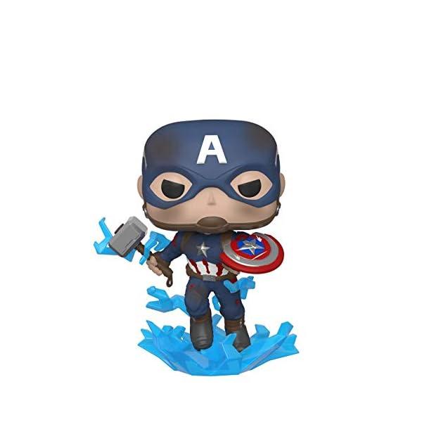 Funko Pop Capitán América con escudo roto y Mjolnir (Los Vengadores: Endgame 481) Funko Pop Los Vengadores