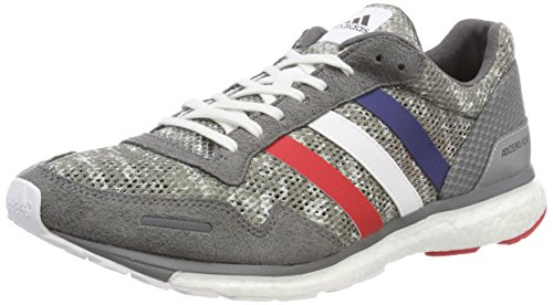 adidas adidas Herren Adizero Adios 3 Aktiv Fitnessschuhe, Grau (Gricua/Ftwbla/Escarl 000), 42 EU