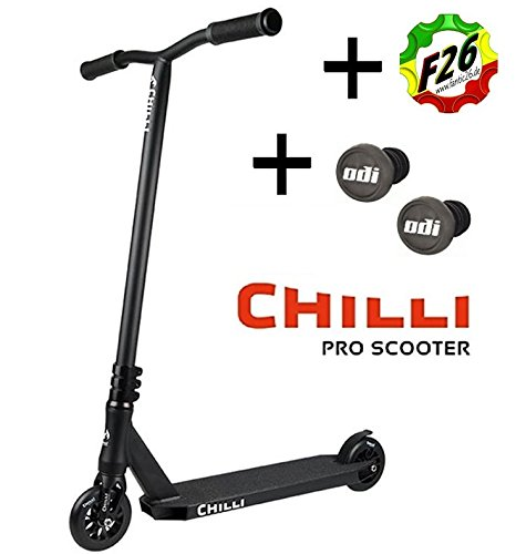 Chilli Pro Scooter Reaper Stunt-Scooter 110mm + Odi Barends + F26 Sticker (Grim Schwarz + Odi)