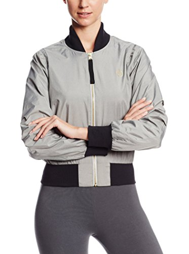 Zumba Fitness Top One More Dance Jacket - Sudadera de Fitness para Mujer, Color Gris, Talla XS