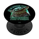 Star Wars: The Mandalorian Grogu He Is Strong With The Force PopSockets PopGrip: Impugnatura per Telefoni Cellulari e Tablet Intercambiabile