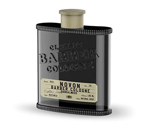 Novon Classic Barber Cologne - Black - Sandalwood - 185ml - Aftershave Rasierwasser nach der Rasur