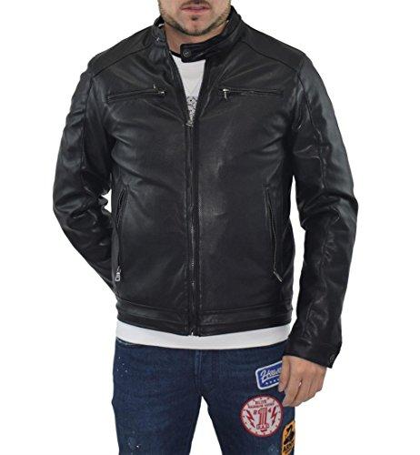 Gas Jeans Dakar/8 Cappotto, Nero (Black 0200), Large (Taglia Produttore:50) Uomo